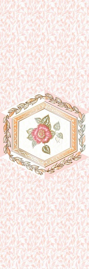 Агатовый фон розовый 6 600х200 Декор : 1721 Ceramique Imperiale : Mercado