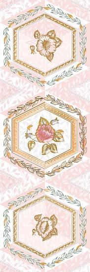 Агатовый фон розовый 7 600х200 Декор : 1721 Ceramique Imperiale : Mercado