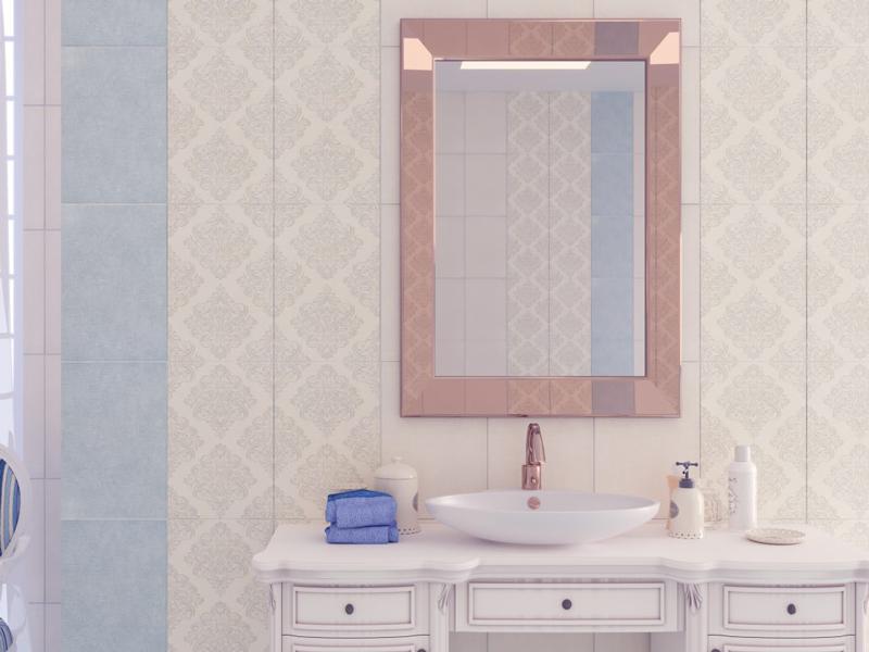 Adele голубой : Коллекция керамической плитки Global Tile фото в интерьере : Интернет магазин Mercado