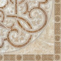ГЕРМЕС коричневый узоры угол 300х300 Плитка напольная : Нефрит-Керамика : Mercado