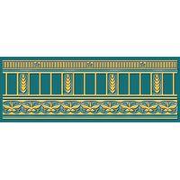Воспоминание бирюзовый 250х90 Бордюр : 1721 Ceramique Imperiale : Mercado