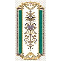 Золотой бирюзовый 500х250 Декор : 1721 Ceramique Imperiale : Mercado