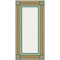 Золотой бирюзовый 500х250 Декор рамка : 1721 Ceramique Imperiale : Mercado
