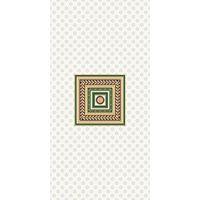 Золотой бирюзовый 500х250 Декор квадрат : 1721 Ceramique Imperiale : Mercado