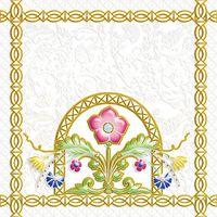 Замоскворечье белый 4 200х200 Декор : 1721 Ceramique Imperiale : Mercado