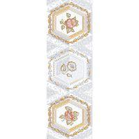 Меланитовый фон серый 8 600х200 Декор : 1721 Ceramique Imperiale : Mercado