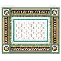 Золотой бирюзовый 8 250х200 Бордюр : 1721 Ceramique Imperiale : Mercado