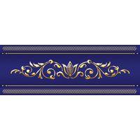 Сетка кобальтовая синий 250х100 Бордюр объемный : 1721 Ceramique Imperiale : Mercado