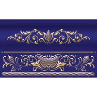 Сетка кобальтовая синий 250х150 Бордюр объемный : 1721 Ceramique Imperiale : Mercado