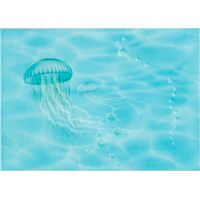 Лазурь бирюзовый 04 медуза 250х350 Декор : БерезаКерамика : mercado