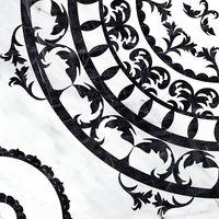 Oriental черно-белый 420x420 Декор напольный : Cersanit : Mercado