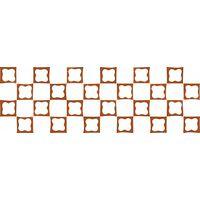 Русский лубок красный 2 600х200 Плитка облицовочная : 1721 Ceramique Imperiale : Mercado