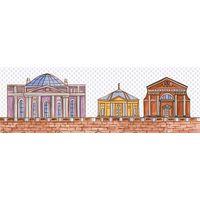 Кобальтовая сетка 2 600х200 Декор : 1721 Ceramique Imperiale : Mercado