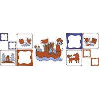 Русский лубок лодья 600х200 Декор : 1721 Ceramique Imperiale : Mercado