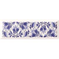 Metro Gzhel decor 01 белый гжель 100х300 Декор : Gracia Ceramica : mercado