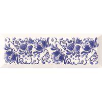 Metro Gzhel decor 02 белый гжель 100х300 Декор : Gracia Ceramica : mercado